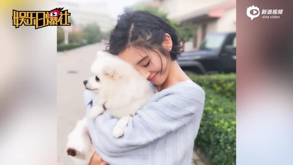 视频:唐艺昕穿蓝色毛衣与狗狗亲密合照背景却亮了