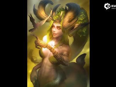 魔兽同人画作分享 塞纳留斯的长女露娜拉