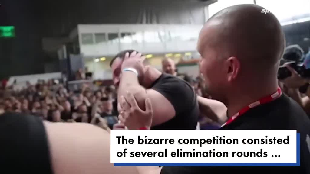 视频:俄举办互扇耳光大赛 选手个个鼻青脸肿