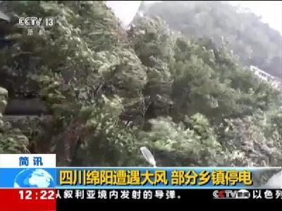 四川绵阳遭遇大风  部分乡镇停电