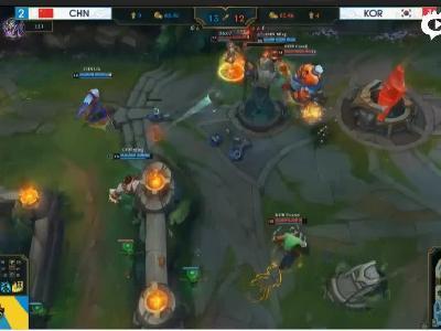 LOL亚运会中国vs韩国最后一波推高地