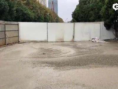 昆明学府路路面塌陷?施工方:不是塌陷 正常施工