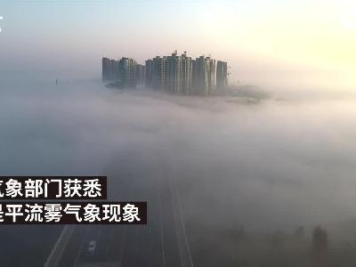 """运城现平流雾景观,城市变""""空中楼阁"""""""