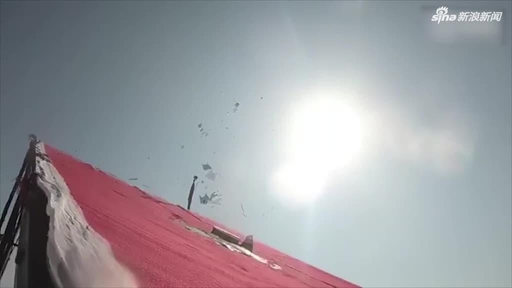 视频 中国首艘导弹无人艇导弹试射现场视频首度曝光