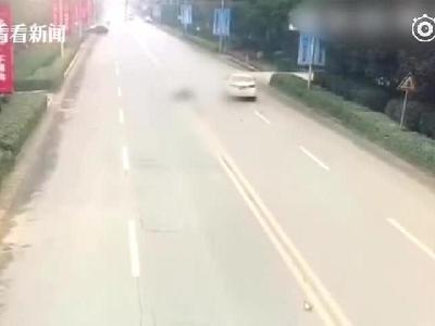 老人抱孙女横穿马路被撞飞 肇事司机酒驾逃逸现已被刑拘