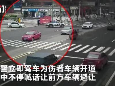 四川遂宁:两人煤气中毒 警方连闯9个红灯一路喊话护送