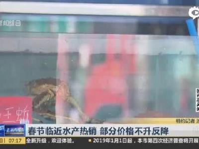 视频|春节临近水产热销 部分价格不升反降_上海早晨_看看新闻