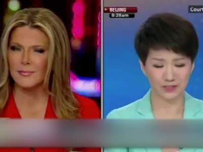 中美女主播隔空辩论 30秒内刘欣被插话3次