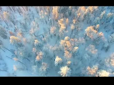 吉林延边仙峰雪岭再现高山雾凇美景
