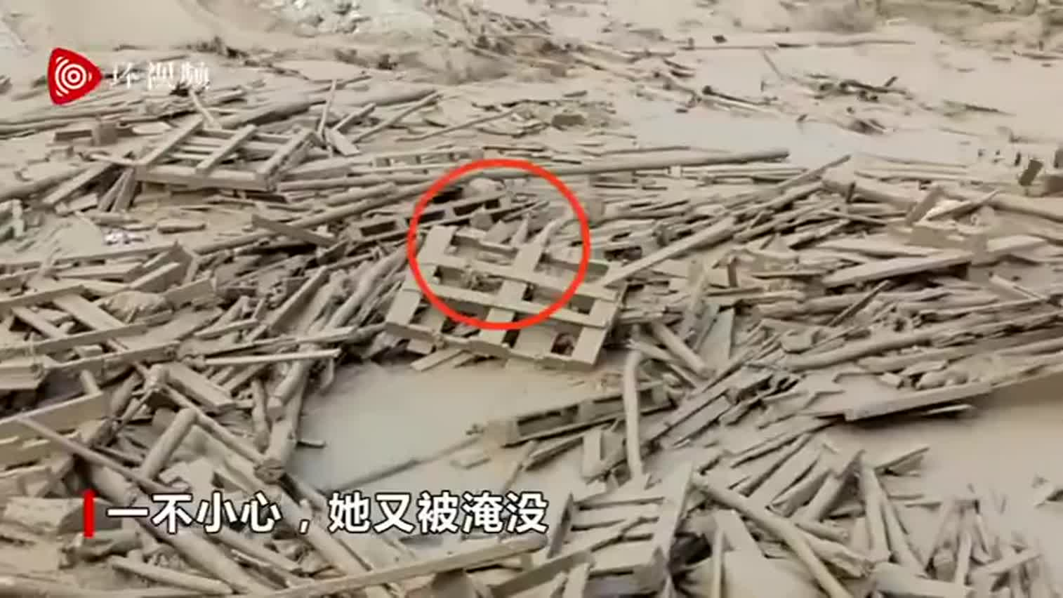 视频-女子在泥石流中自救逃生:身上全是泥沉的抬不