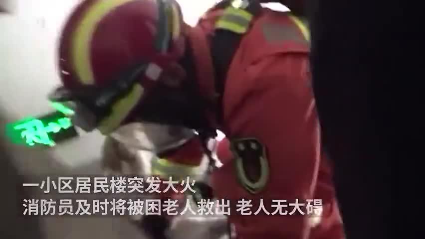 视频-火场救完老人 消防员为宠物狗戴呼吸器