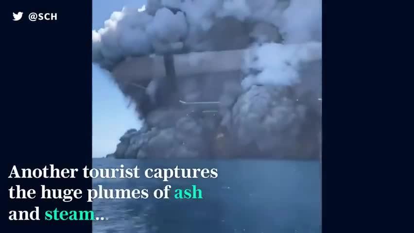 视频:新西兰火山喷发已致5人遇难 伤者和失踪者中