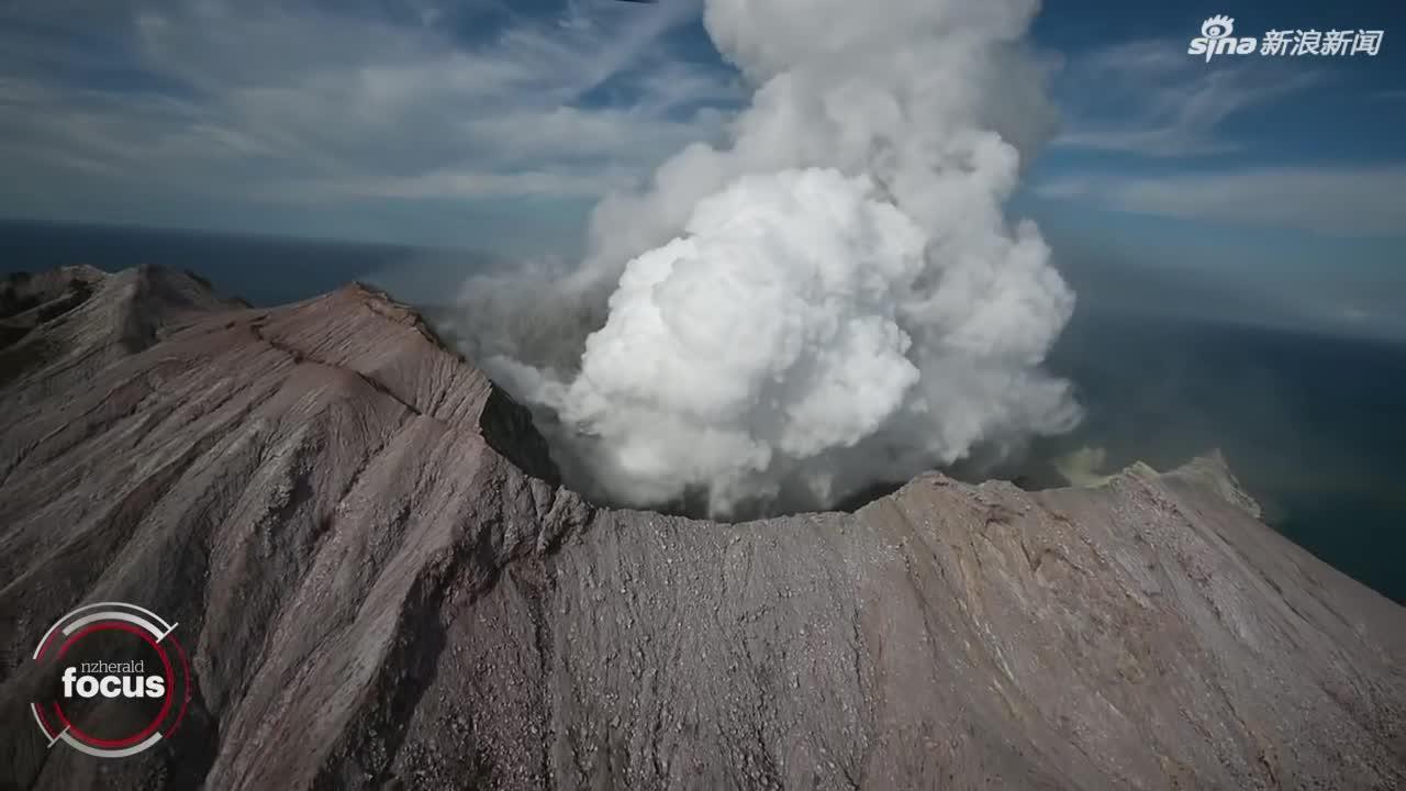 视频-新西兰火山喷发后搜救视频首曝光:小岛被白灰