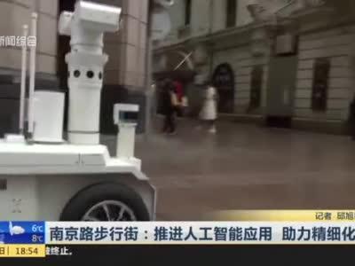 视频|南京路步行街:推进人工智能应用 助力精细化管理_新闻报道_看看新闻