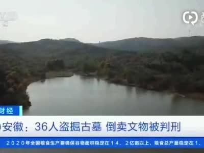 安徽:36人盗掘古墓 倒卖文物被判刑
