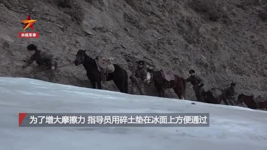 视频-边防官兵手脚并用爬到执勤点位