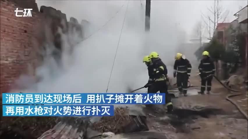 视频:消防到小学灭火 归途时学生夹道敬礼