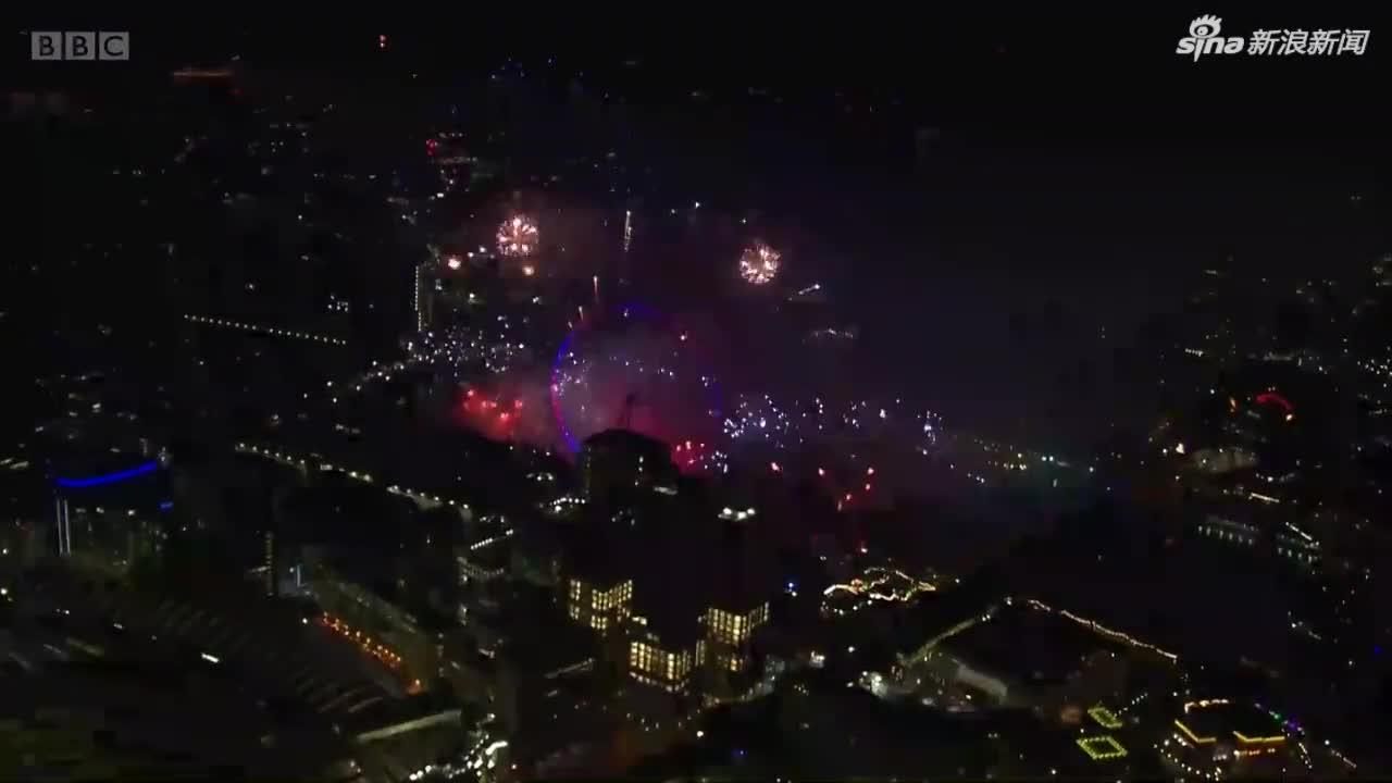 全程视频-超级壮观!伦敦烟花秀点亮夜空震撼来袭