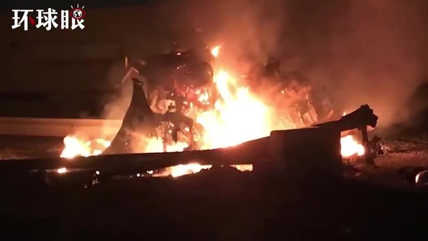"""视频-伊拉克巴格达机场遭袭至少8死 """"人民动员组"""