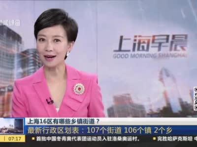 视频|上海16区有哪些乡镇街道? 最新行政区划表:107个街道 106个镇 2个乡