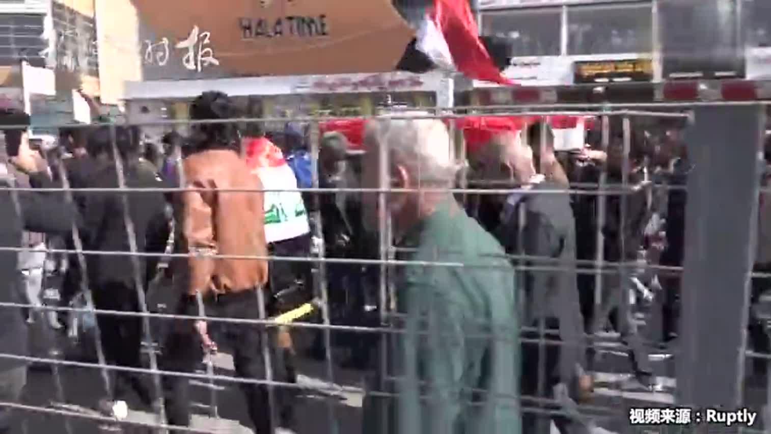 视频-在伊拉克拍摄抗议活动 俄罗斯Ruptly视