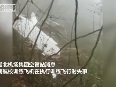 一架教练机在湖北长阳坠毁 3人遇难