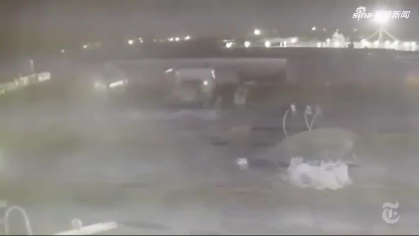 视频-美媒曝光新监控视频:伊朗2枚导弹击中乌客机