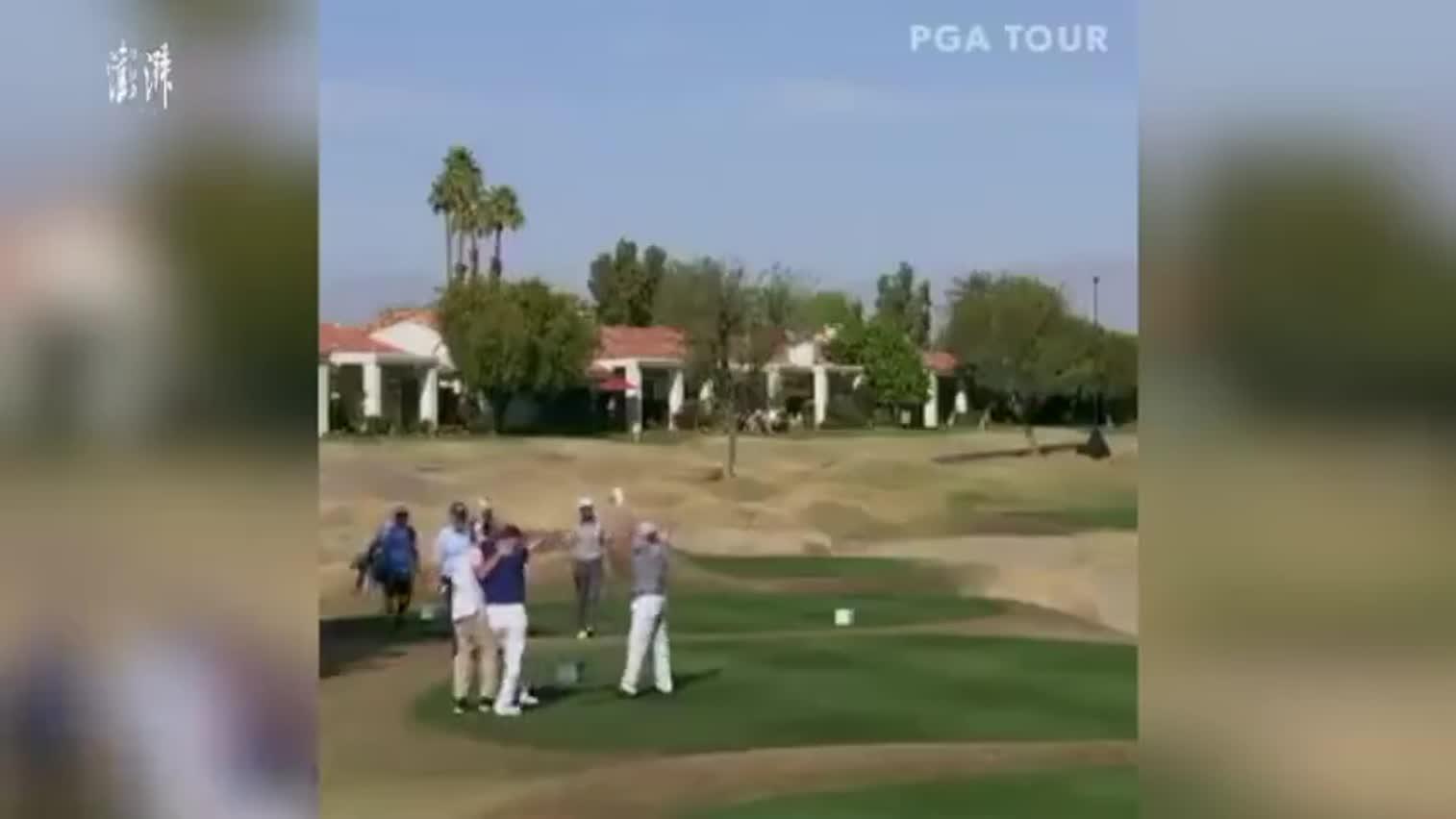 视频-正能量!独臂高尔夫球手打出了让众人欢呼的一