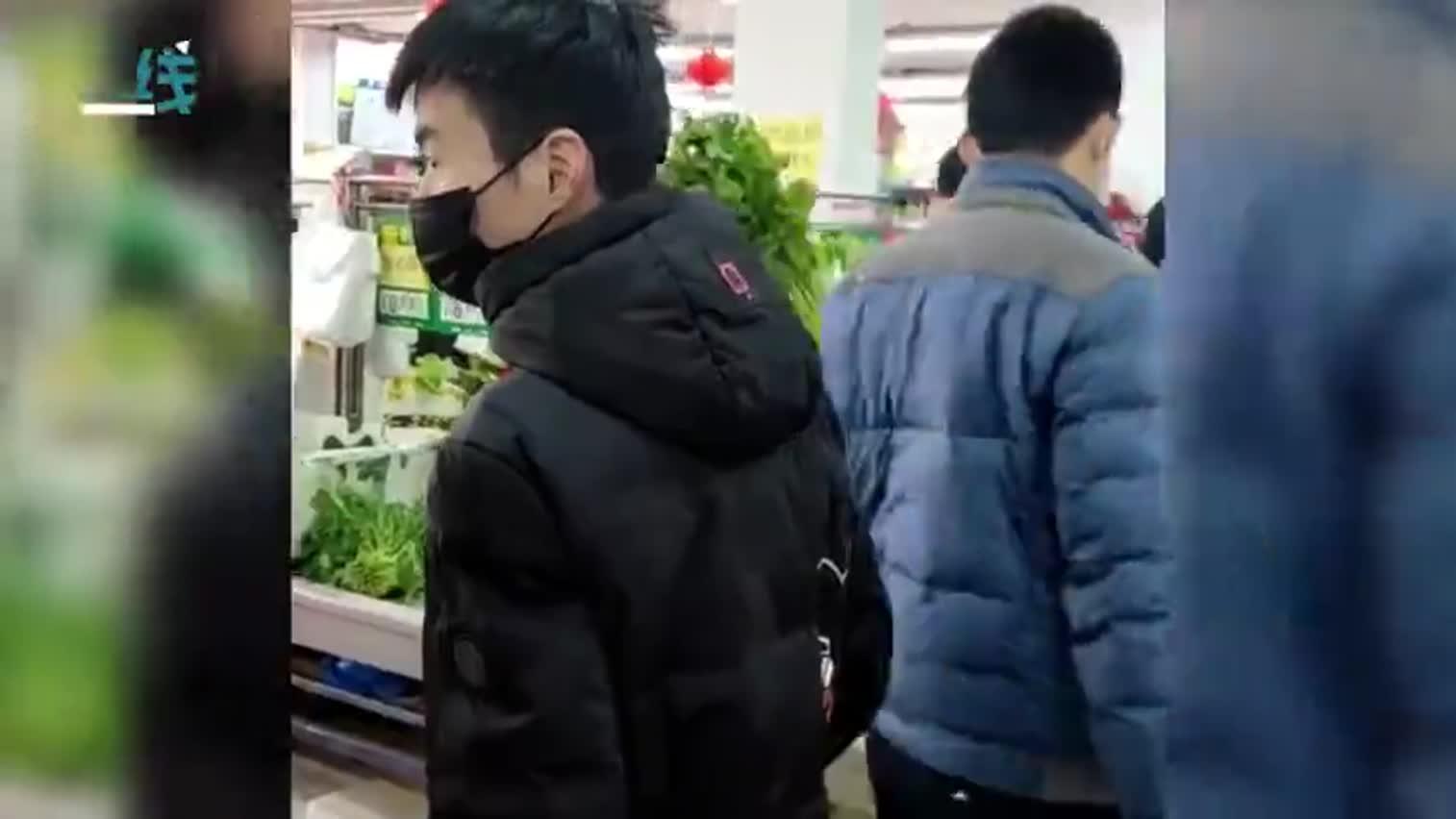 视频-全民居家隔离超市里买菜的都是老爷们儿 手拿