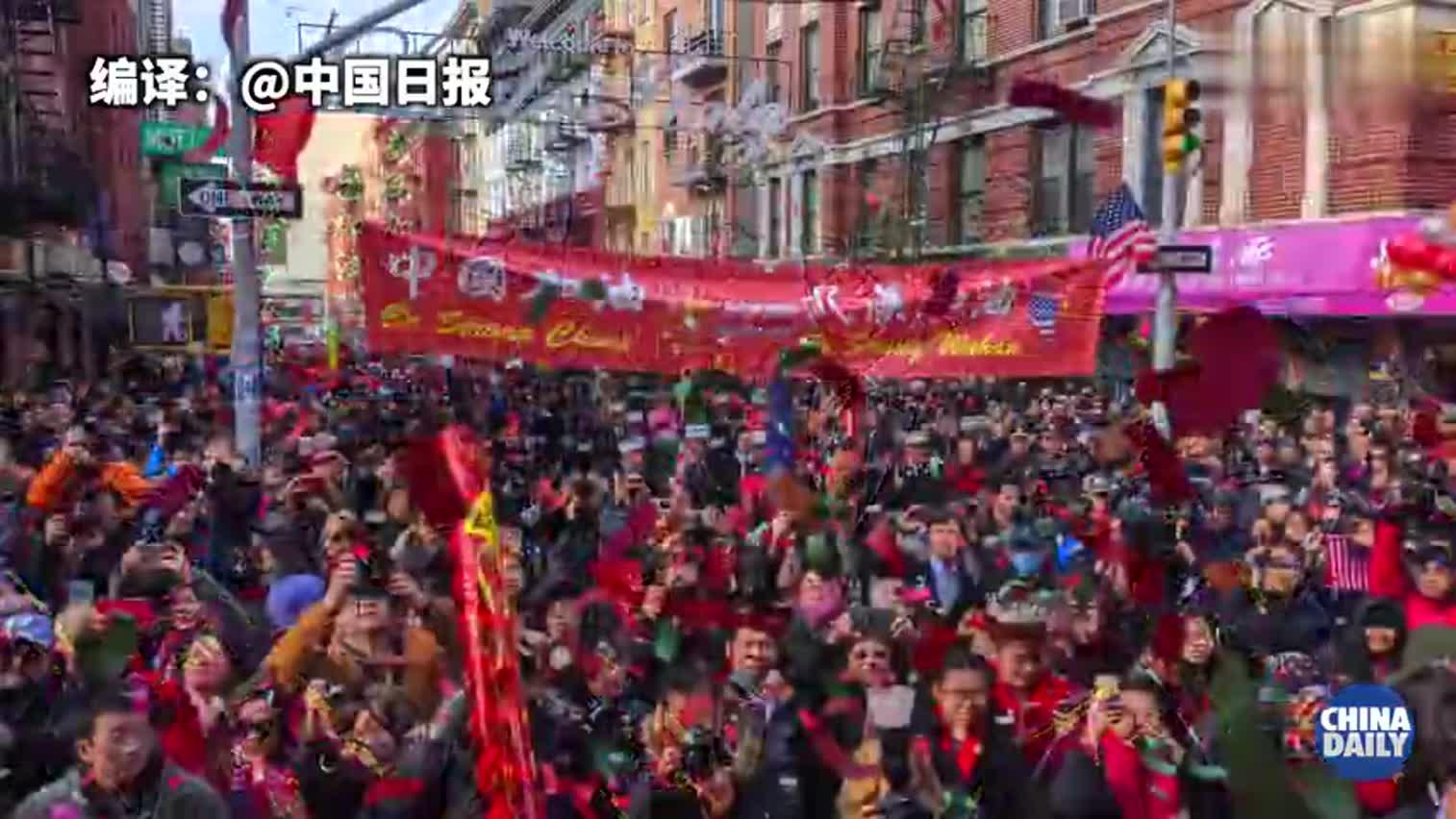 视频-纽约华人华侨为武汉加油