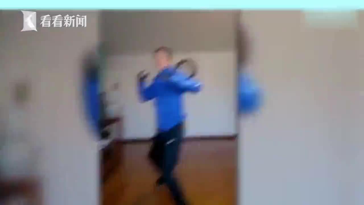 视频-警校生上格斗网课拿家人练手 三下两下制服弟