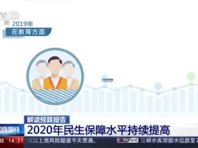 解读预算报告:2020年民生保障水平持续提高