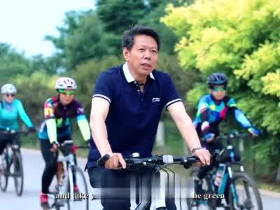 天津市静海区区长金汇江为团泊湖代言