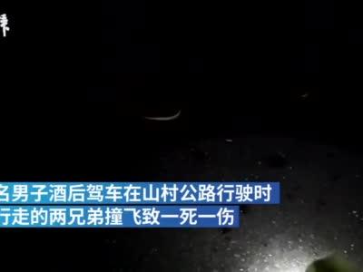 男子酒驾撞飞路人致一死一伤,逃逸后将车藏进深山
