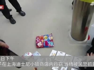 妻在園中玩 夫在店中竊 來滬男子偷11件迪士尼商品被依法處置