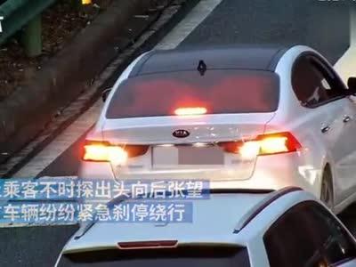 女司机高速路倒车试图回匝道,自称心疼父亲晕车节省时间
