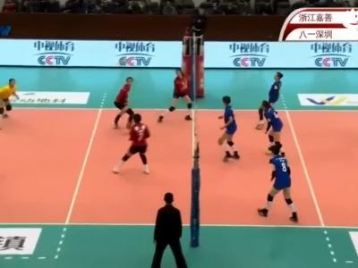 八一女排3-0横扫浙江