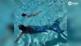 视频:贝克汉姆晒小七游泳照 称我的小美人鱼