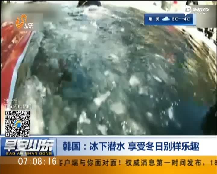刺激!韩国冰下潜水 享受冬日别样乐趣