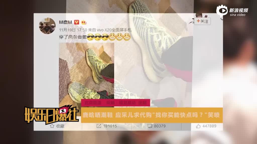 视频:鹿晗晒潮鞋应采儿求代购