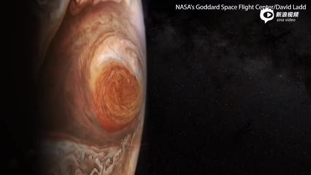 木星上的可怕风暴所产生的神秘深色斑纹
