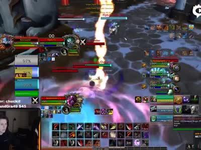 魔兽世界Whaazz vs Hydra 3v3竞技场