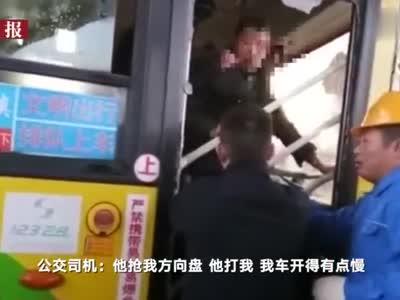 61岁乘客嫌公交开得慢  拉拽司机导致公交撞货车6人受伤