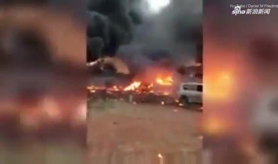 视频:起争执后男子开飞机俯冲撞妻子 机毁人亡烟火