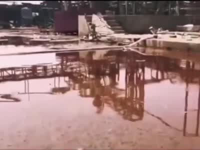 视频-盐城爆炸核心区画面曝光 腐蚀严重 满目疮痍