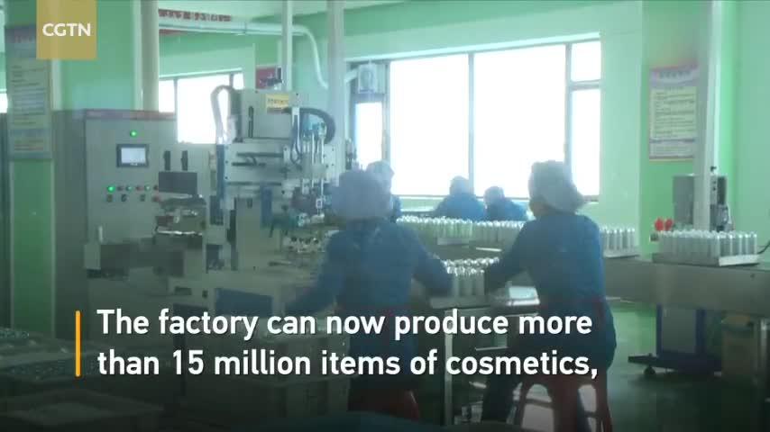 视频|探访平壤化妆品工厂:自主研发生产 销售渠道