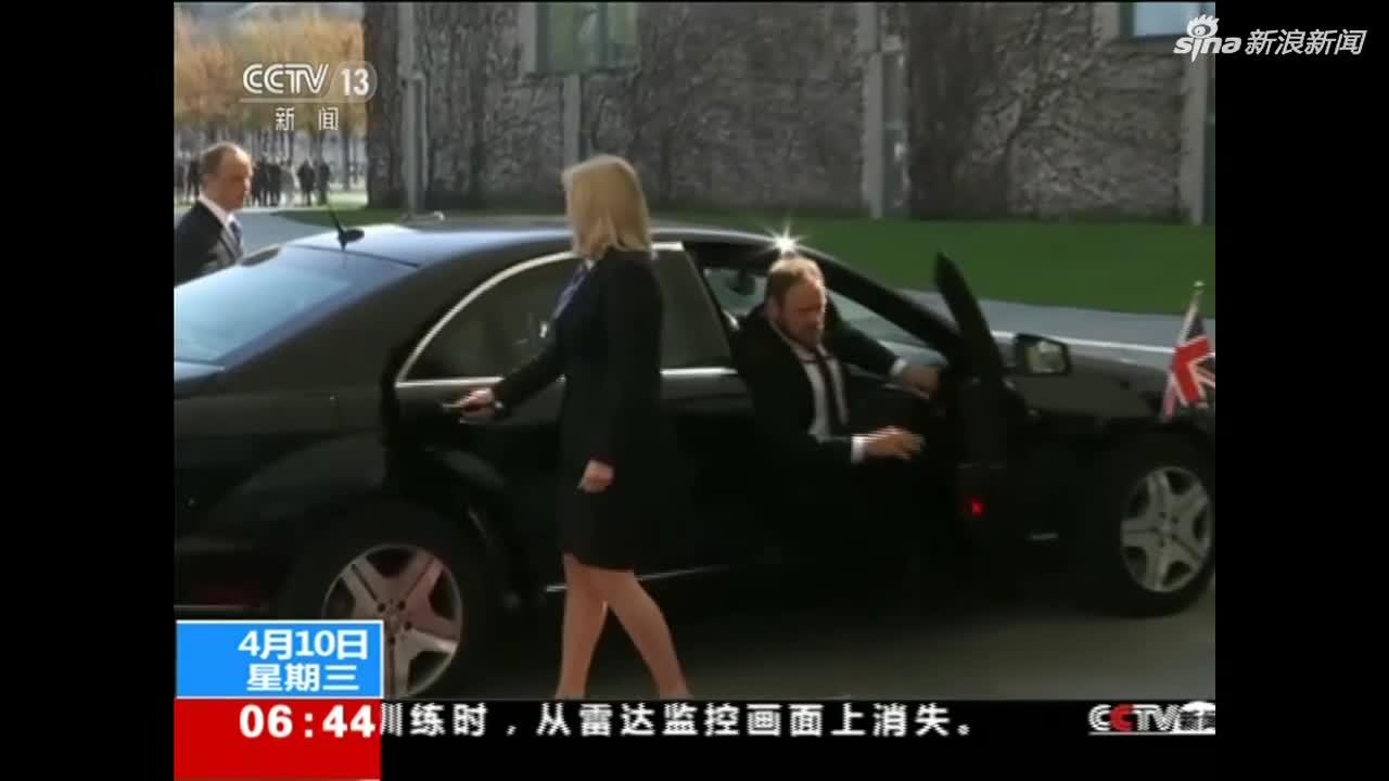 """视频:英国首相造访德法 与两国元首商讨""""脱欧""""事"""