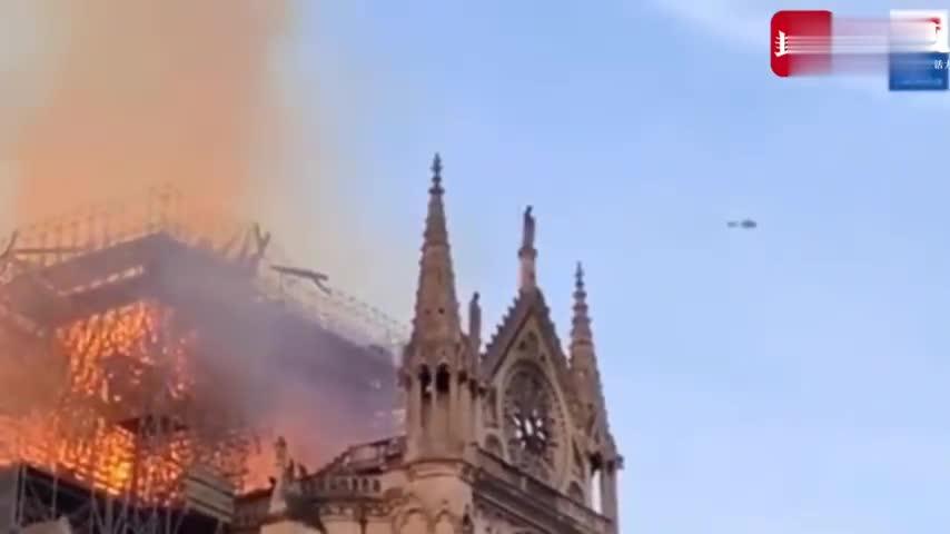 视频-巴黎圣母院救火视频曝光:消防员抽塞纳河水救