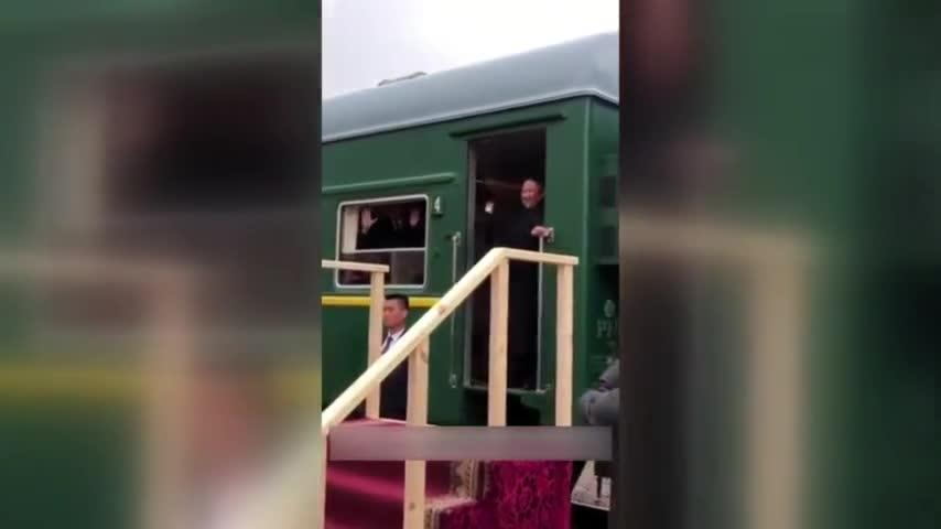 """视频-金正恩跨越朝俄边境 称此次访问""""只是第一步"""