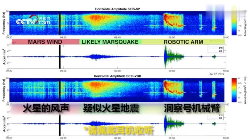 """视频:来自火星的声音 """"洞察号""""首次记录疑似地震"""